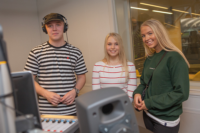 Elever på besøg hos NORDJYSKE