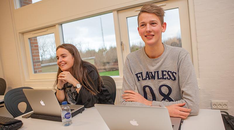 HHX-elever på Fjerritslev Gymnasium