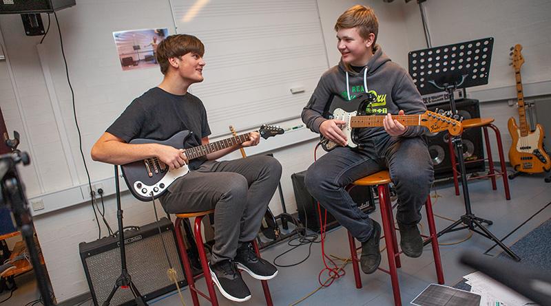 Musikundervisning på Fjerritslev Gymnasium