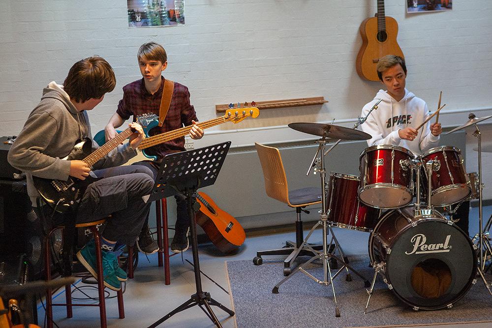 Musik-elever på Fjerritslev Gymnasium