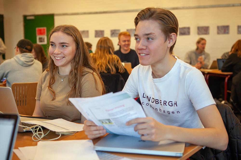 STX-elever på Fjerritslev Gymnasium