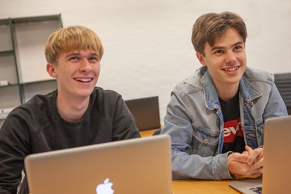HF-elever på Fjerritslev Gymnasium