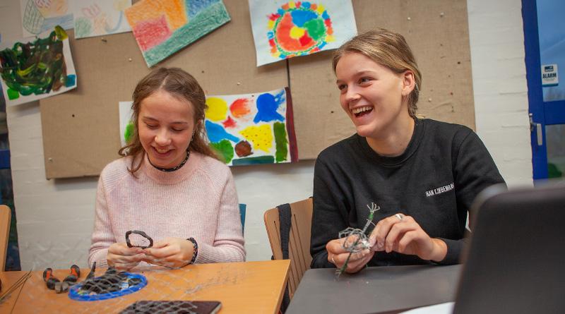 Billedkunstundervisning på Fjerritslev Gymnasium